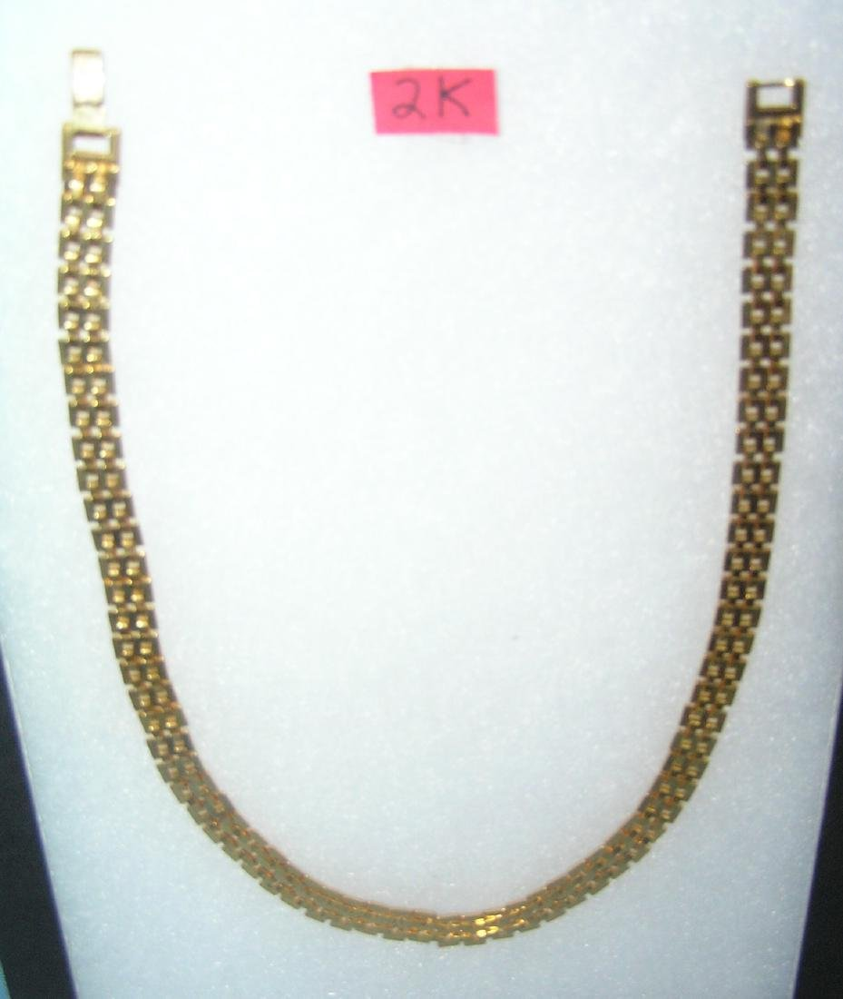 High quality gold tone link necklace