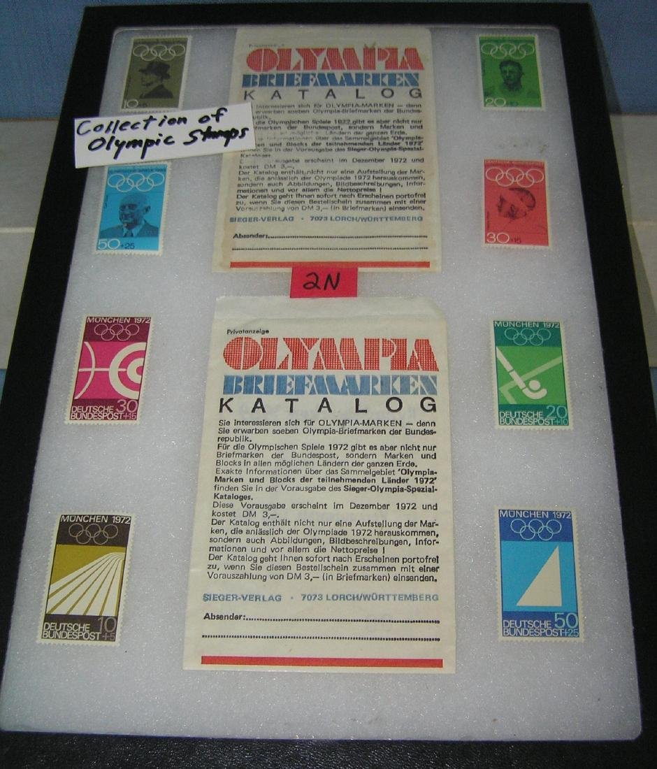 Collection of Olympic postage stamps