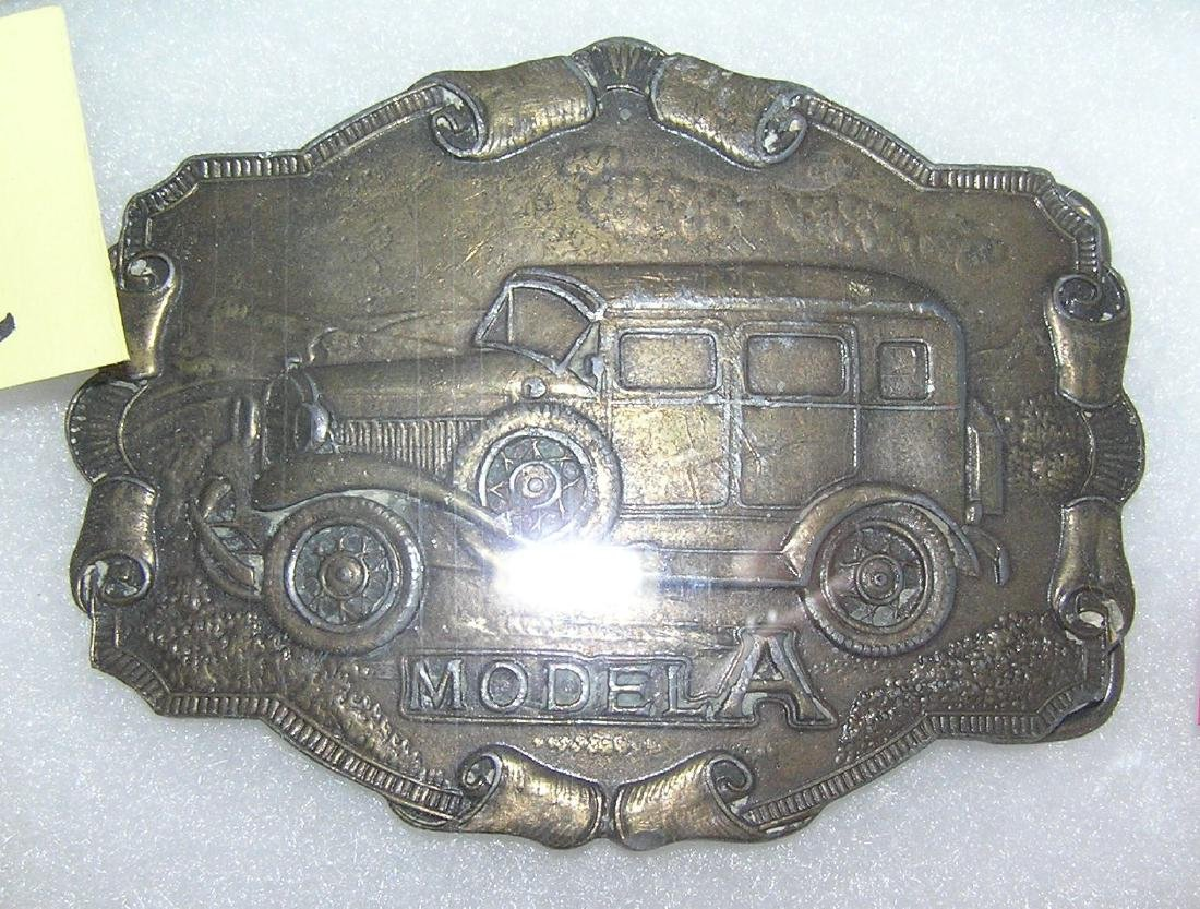 Model A Ford belt buckle