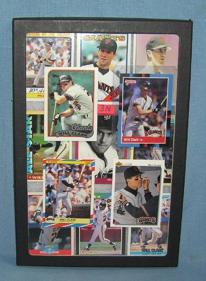 Group of vintage Will Clark all star baseball cards