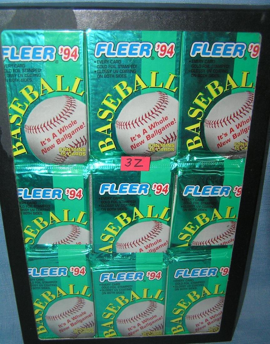 Group of vintage unopened baseball card packs