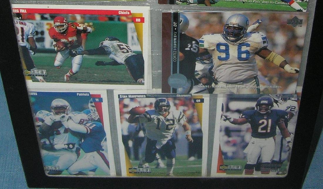 Group of mint unopened football card packs