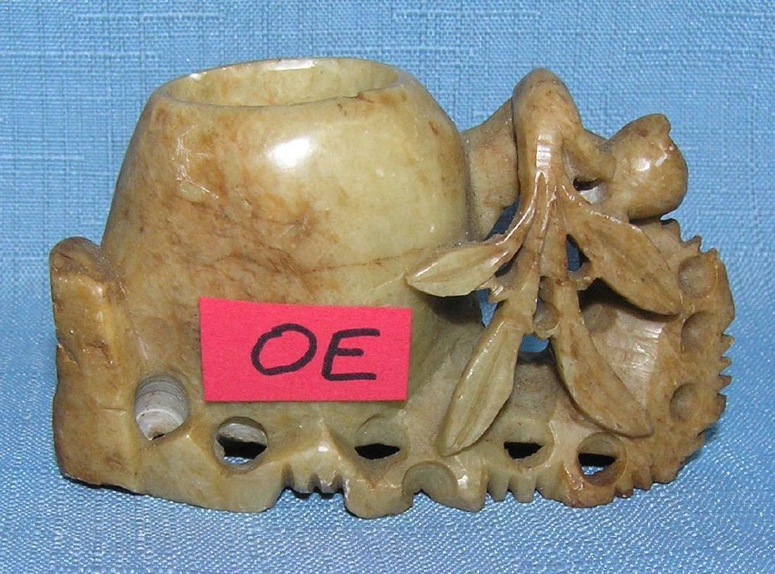 Carved soapstone bud vase