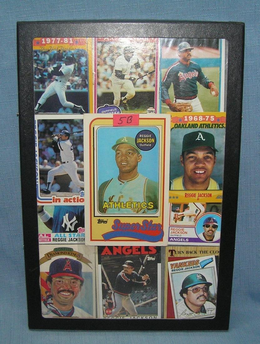 Group of vintage Reggie Jackson baseball cards