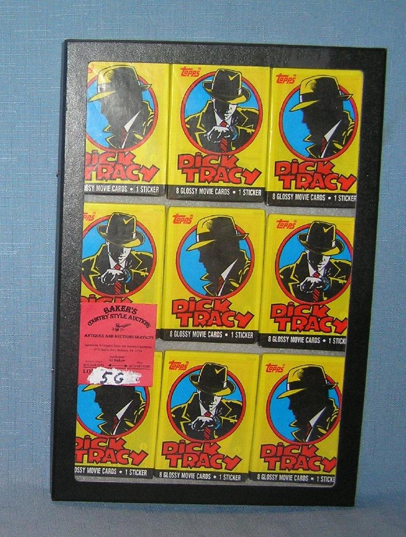 Dick Tracy unopened non sport card packs