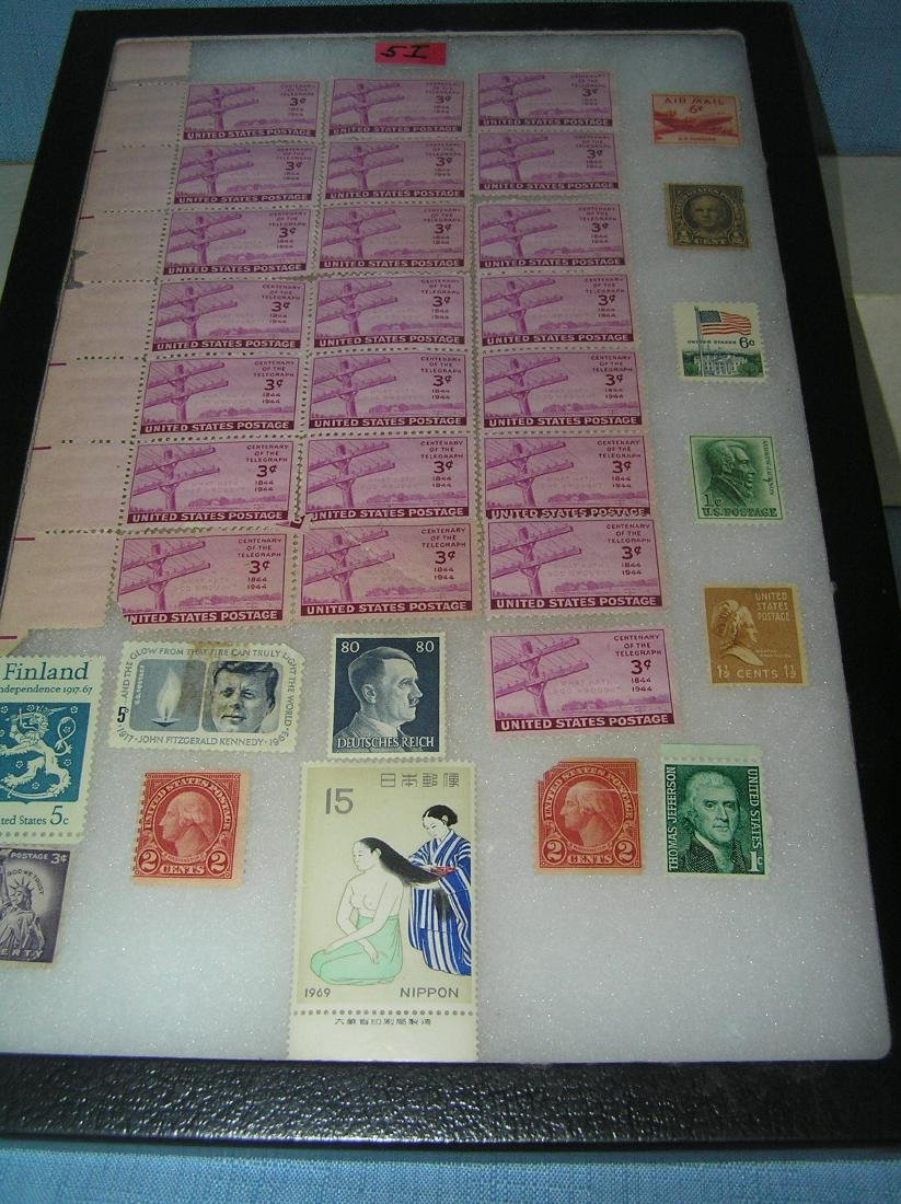 Collection of vintage US and world postage stamps