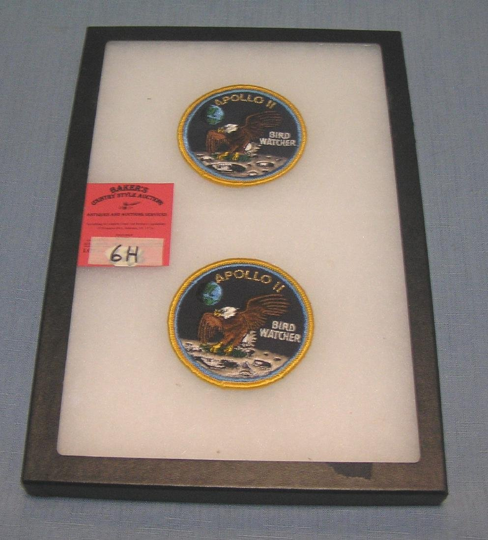 Pair of vintage Apollo 11 bird watcher patches