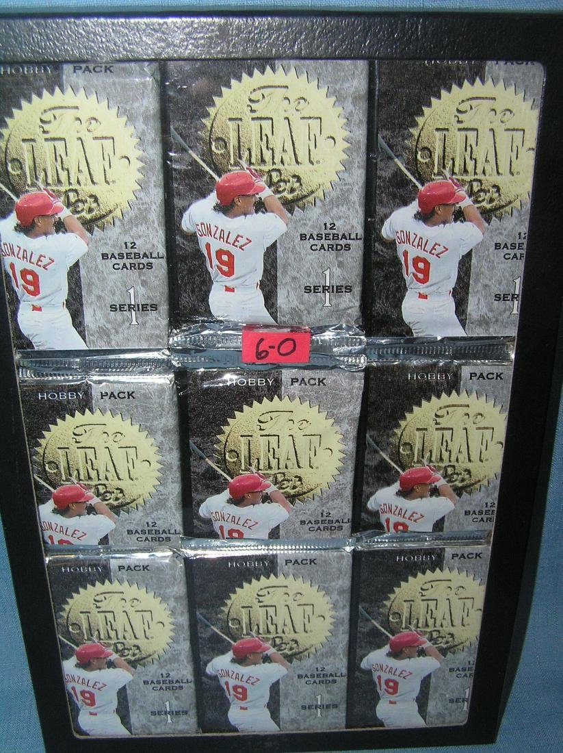 Group of mint unopened baseball card packs