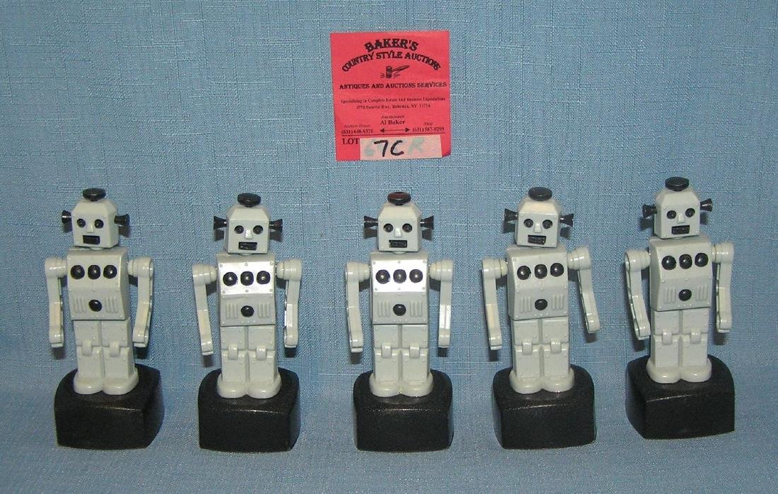 Collection of 5 Pushbot Robot Toys