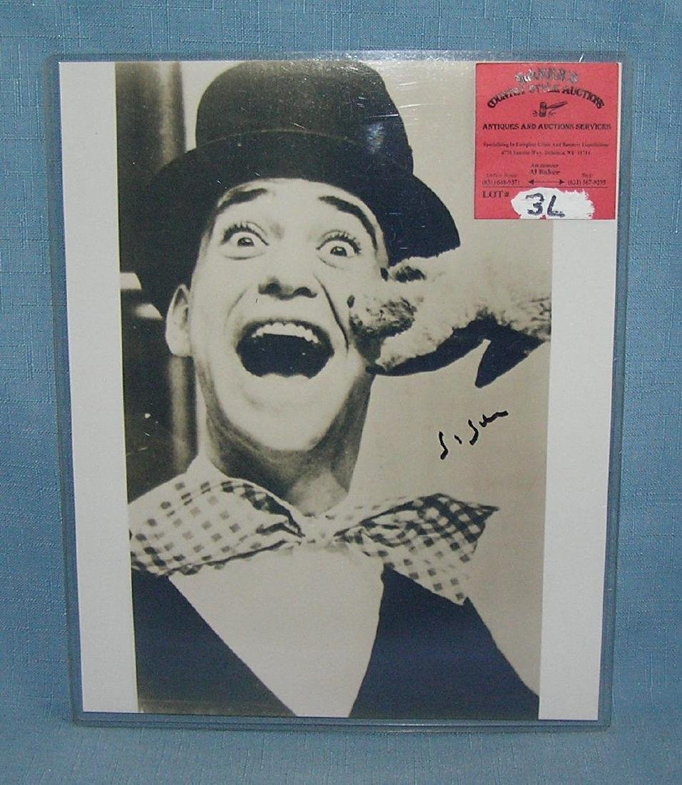 Autographed Soupy Sales photo