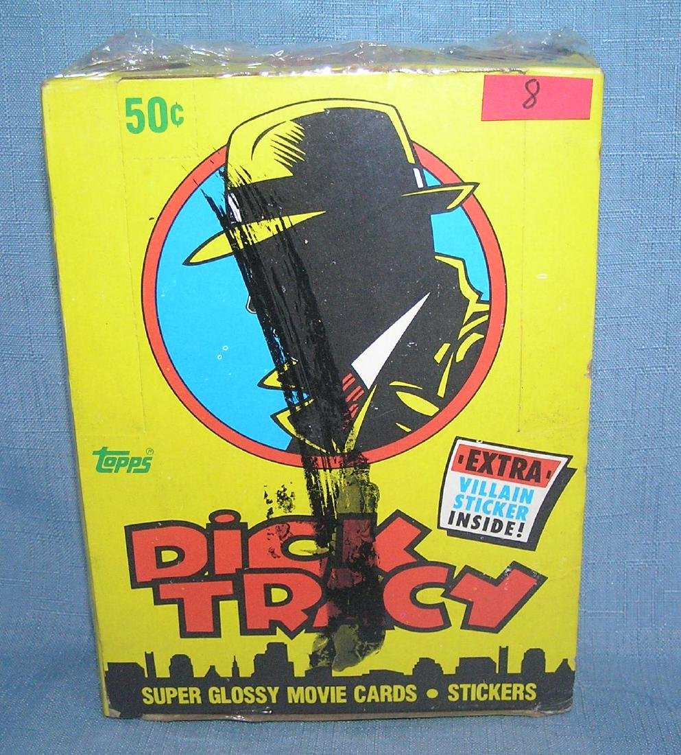 Box of Dick Tracy unopened card packs