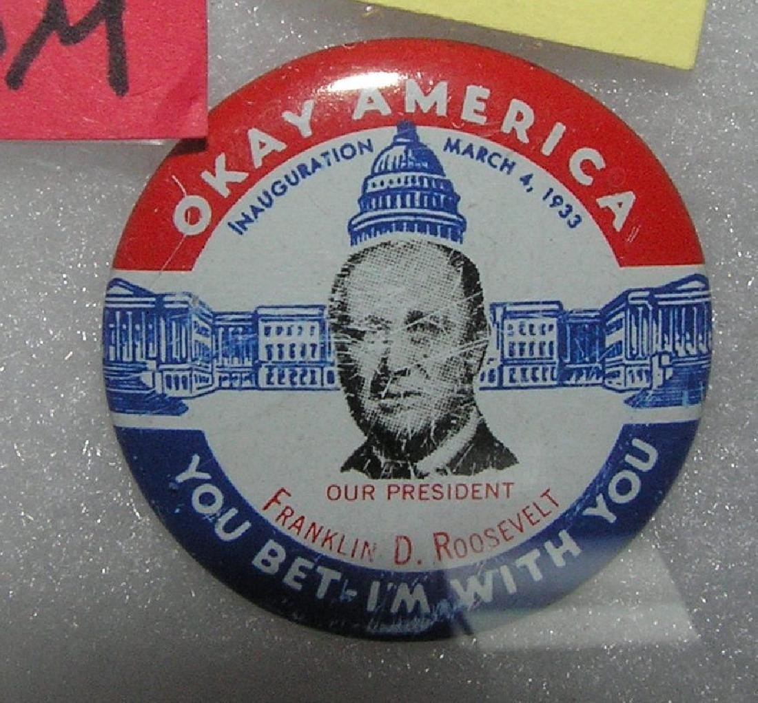 Franklin D. Roosevelt pin back button