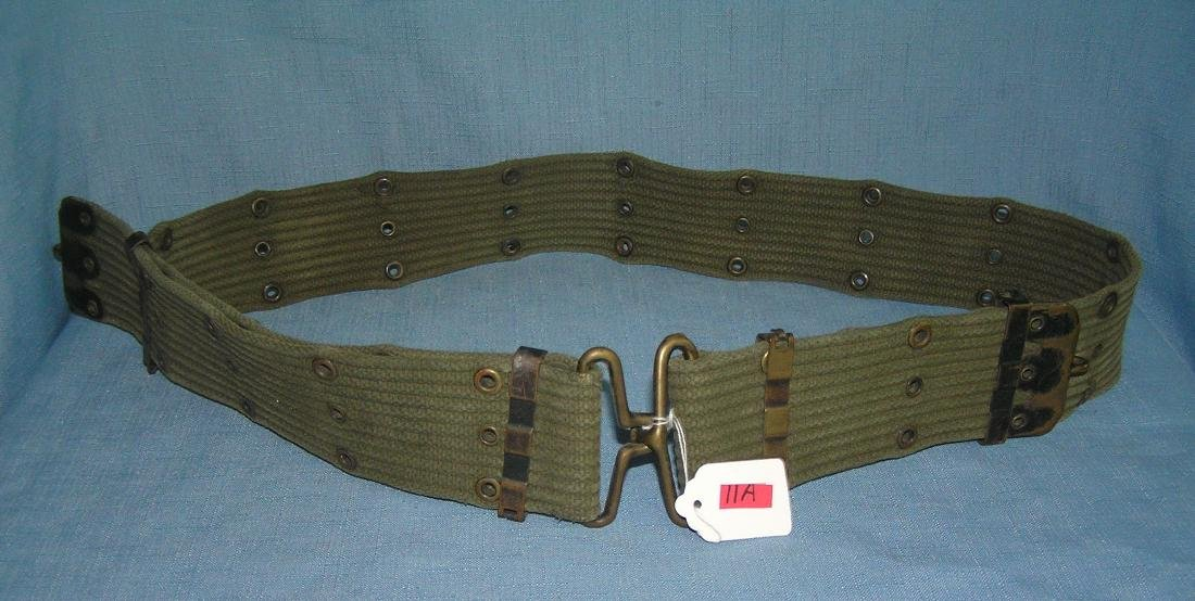 WWII soldier's web belt