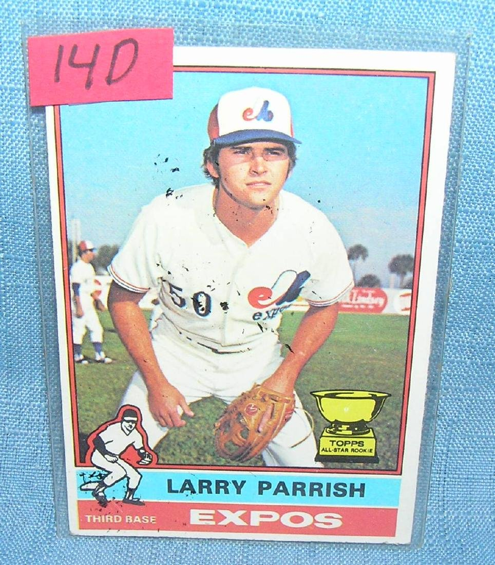 Vintage Larry Parrish rookie baseball card