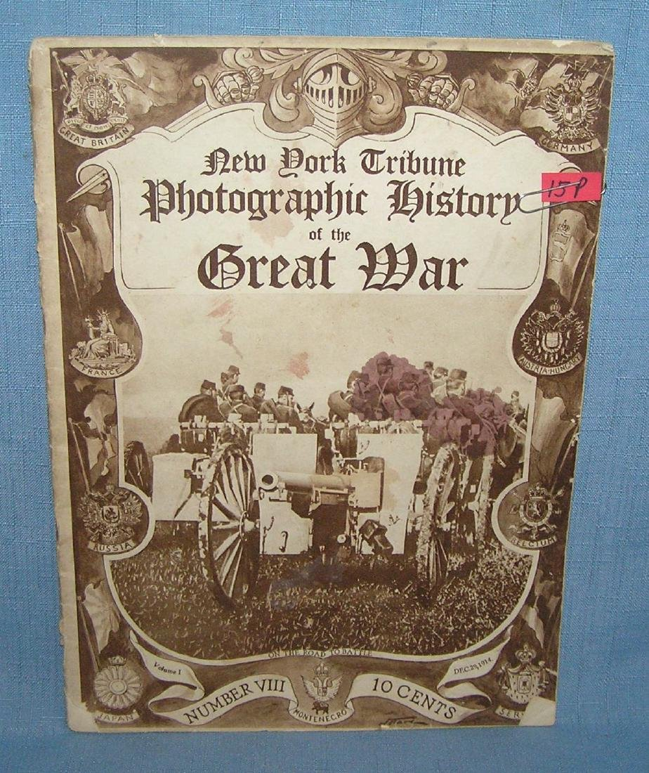 Photographic history of the Great War circa WWI