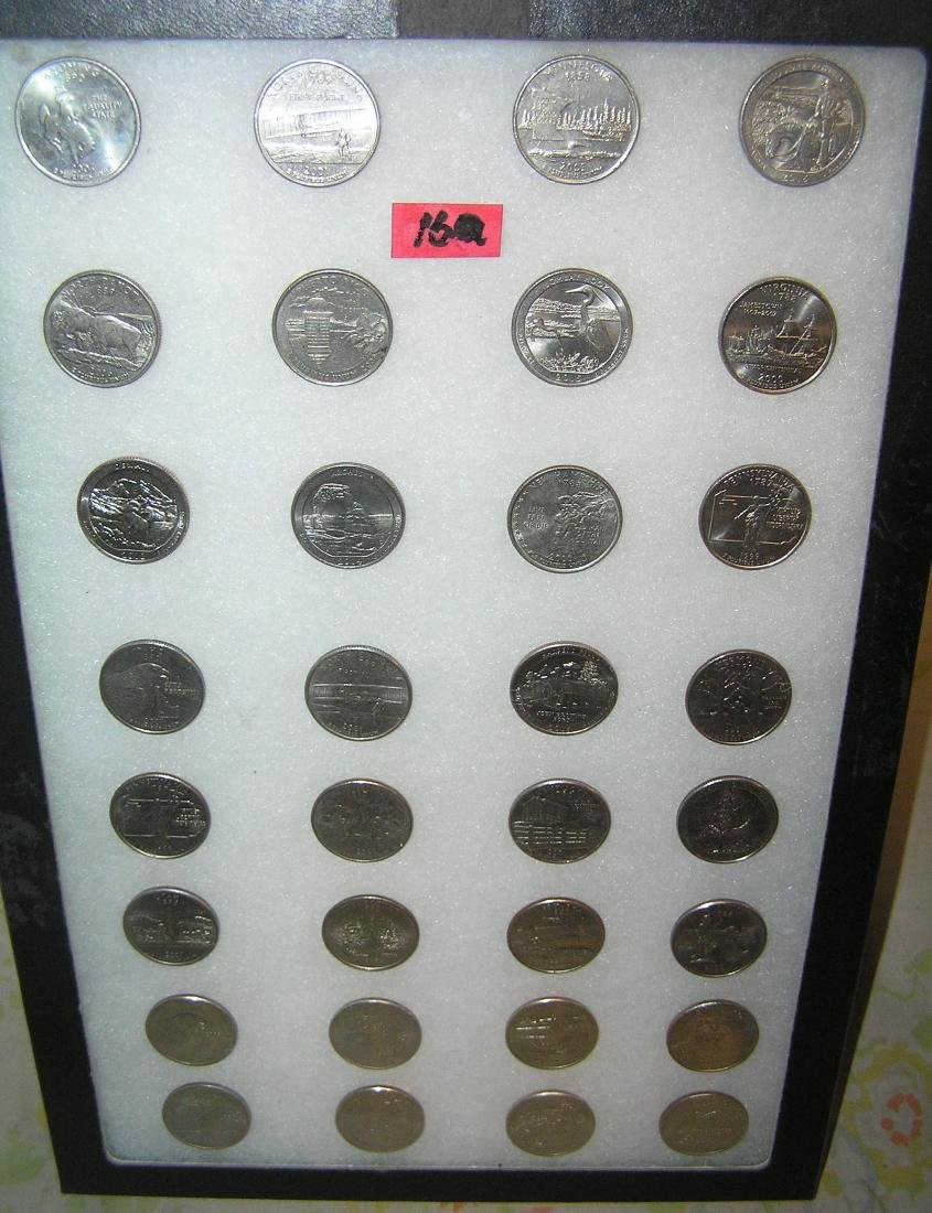 Collection of vintage US state quarters
