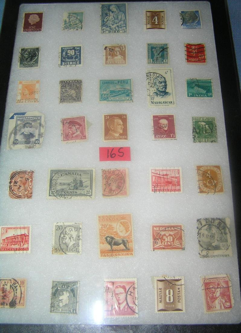 Collection of world postage stamps