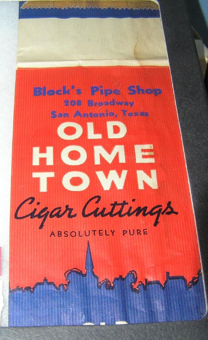 Old home town pipe and cigar Cuttings advertising piece