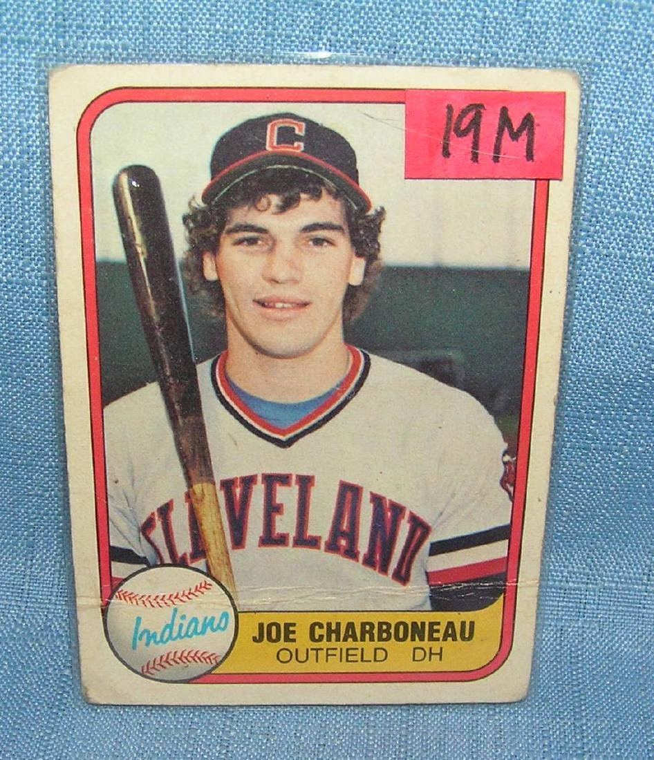 Joe Charboneau rookie baseball card