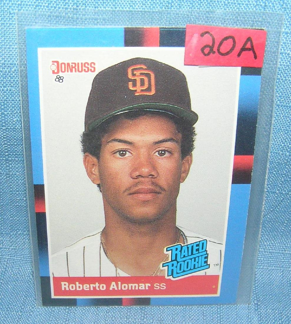 Roberto Alomar rookie baseball card