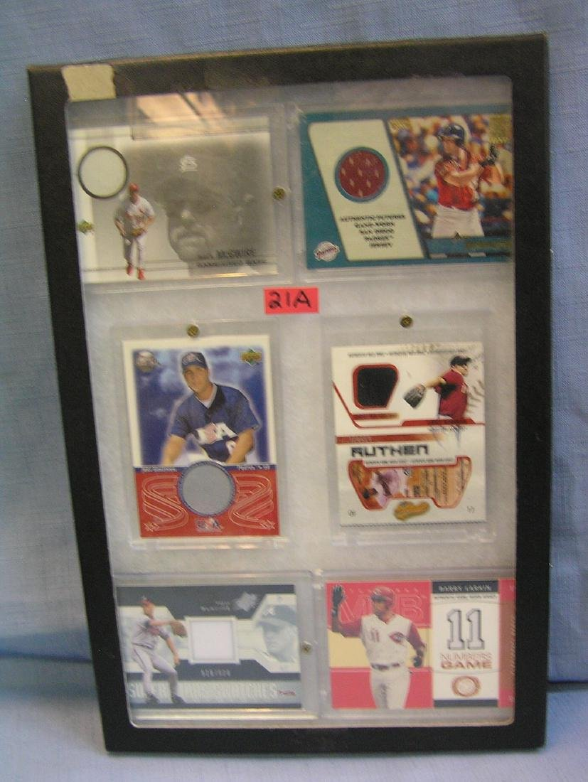 Game used uniform material all star baseball cards