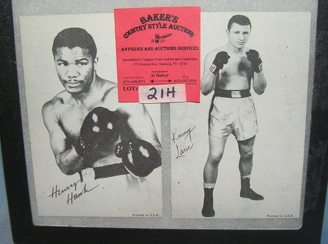 Pair of early boxing  exhibit penny arcade photo cards