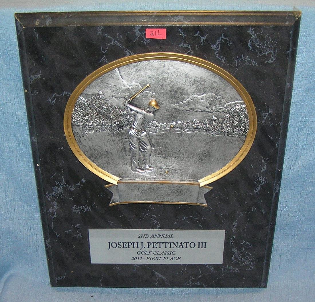 High quality golfing presentation plaque