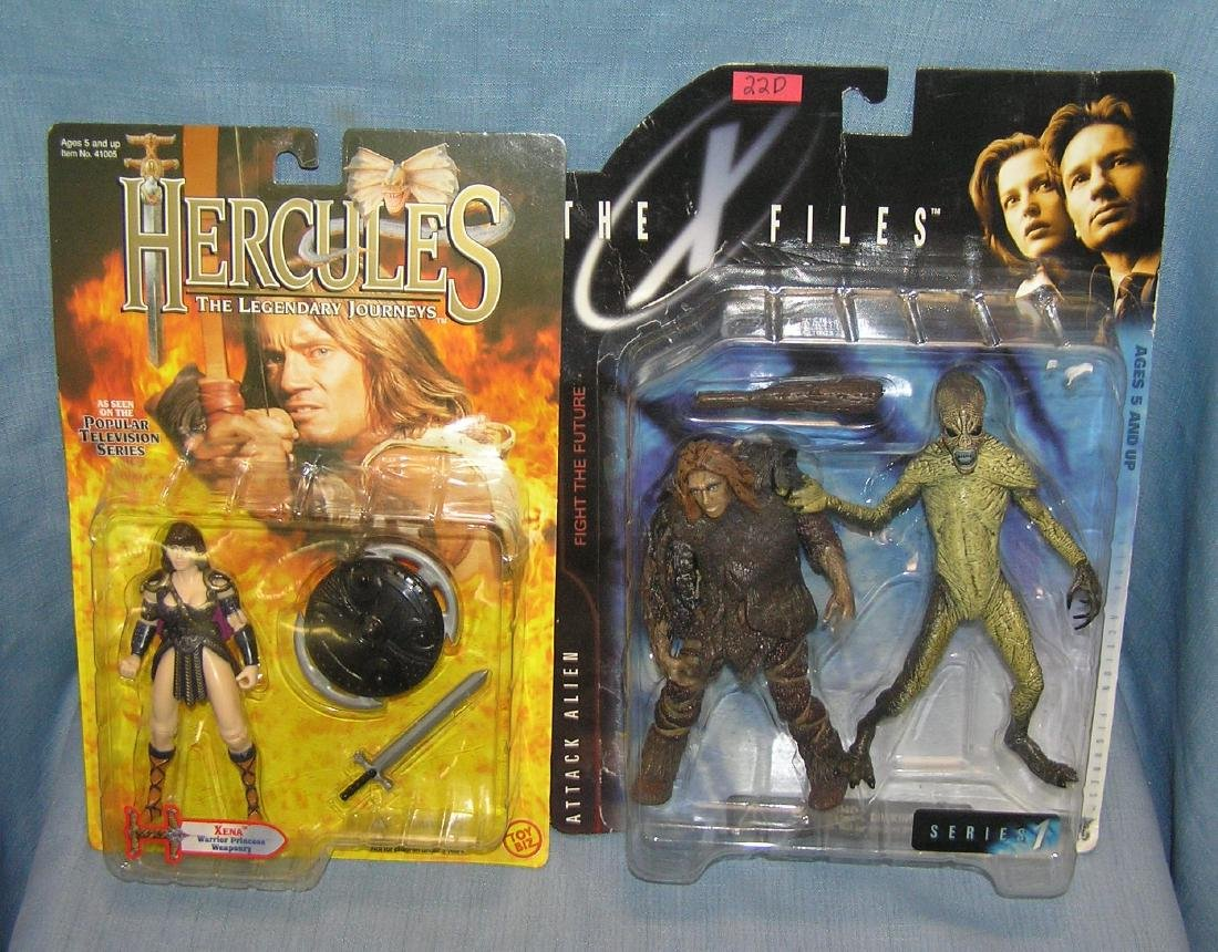 Group of 3 action figures includes X files and Hercules