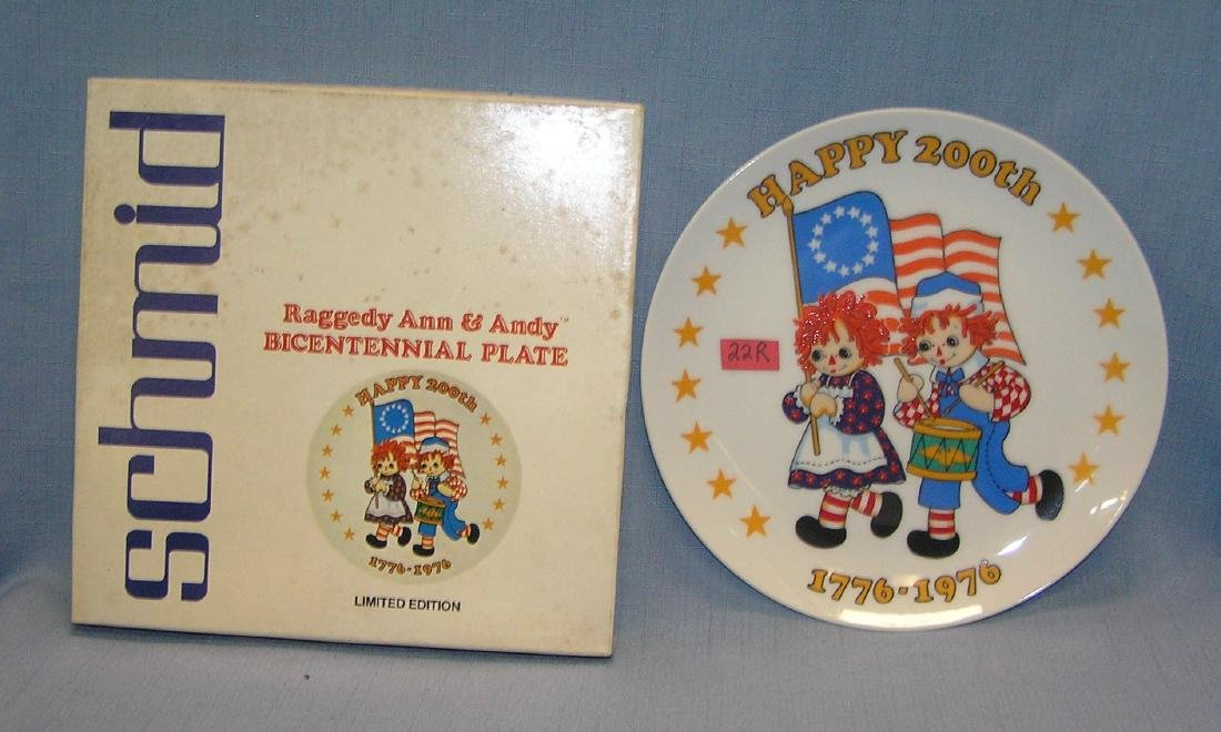 Raggedy Ann and Andy Bicentennial collector plate