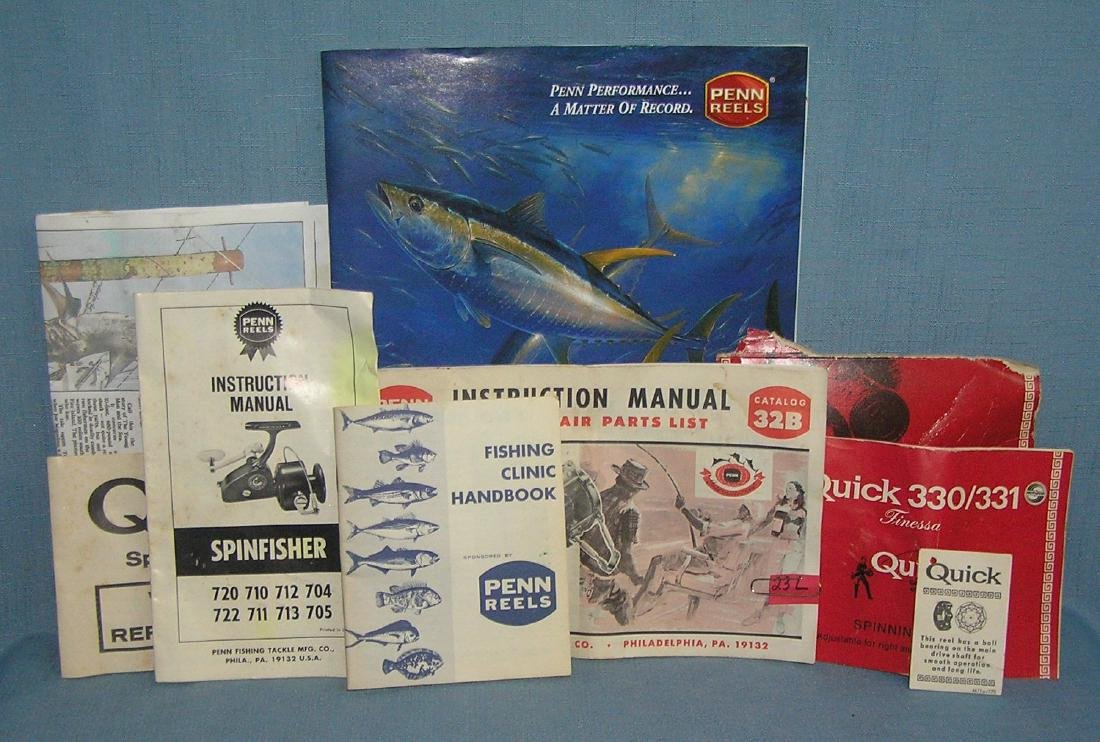 Group of fishing catalogs and ephemera