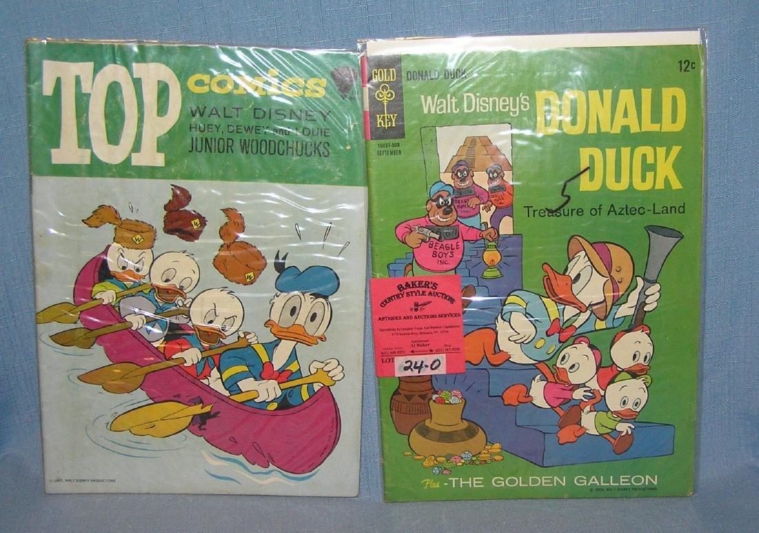 Pair of vintage Disney comic books