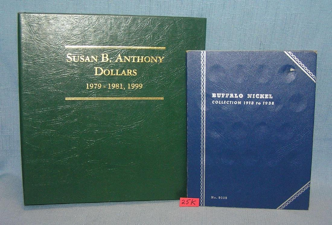 Pair of coin book holders