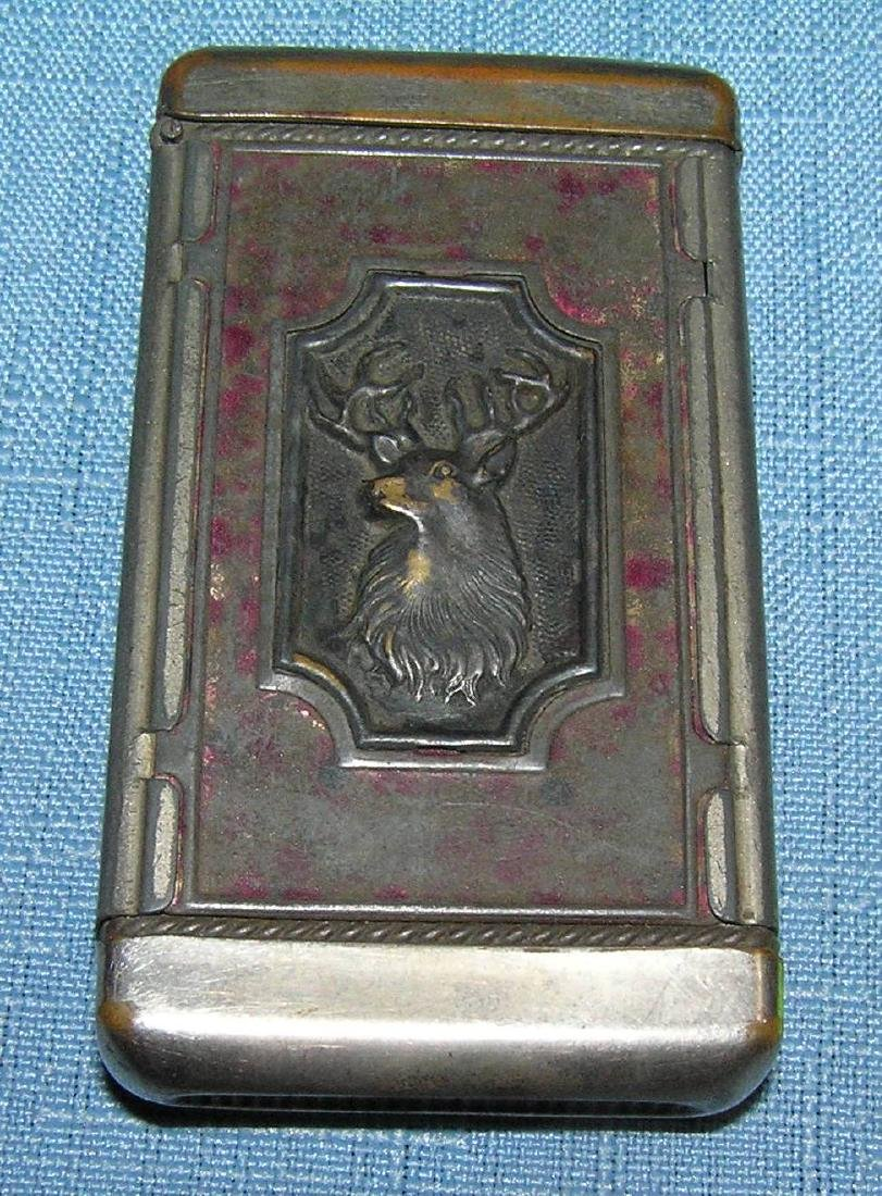 Antique hunting themed match safe