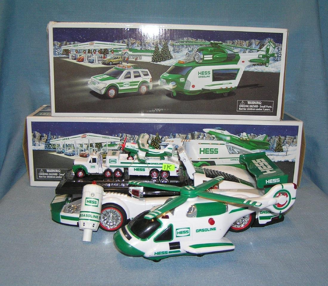 HESS toys and pair of empty display boxes