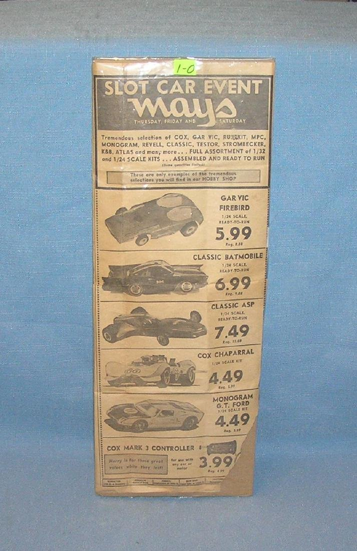 1960's slot car advertising promotional ad