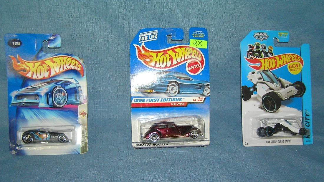 Group of vintage Hot Wheels vehicles
