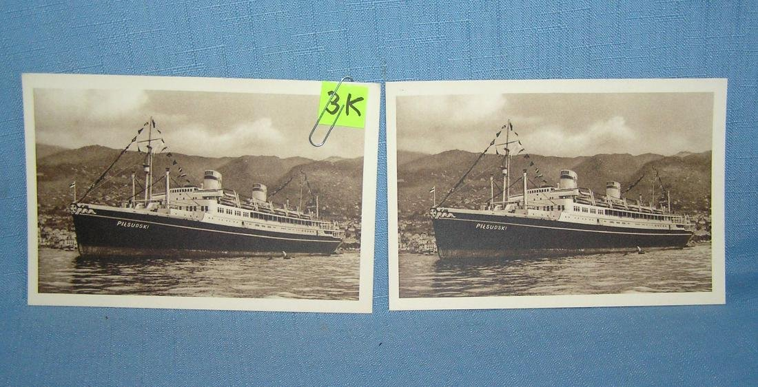 Pair of early ocean liner post cards