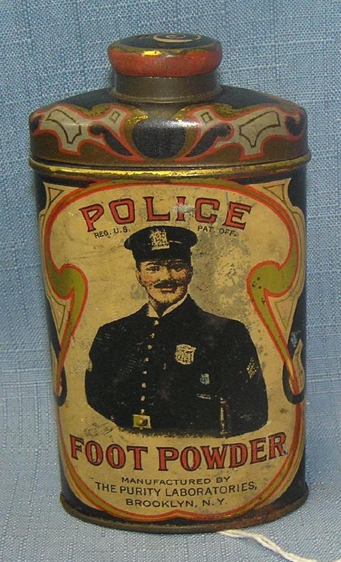 Rare Policeman's foot powder tin