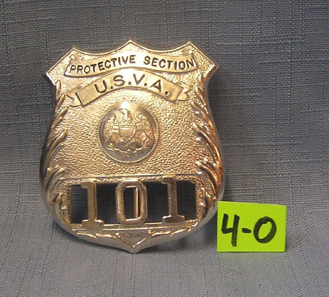 U.S.V.A. Protective Section officer's badge