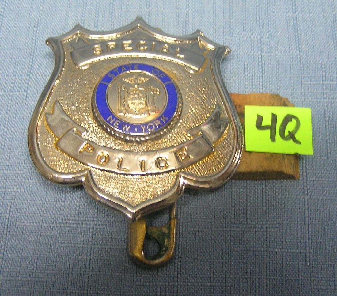 State of NY special police badge