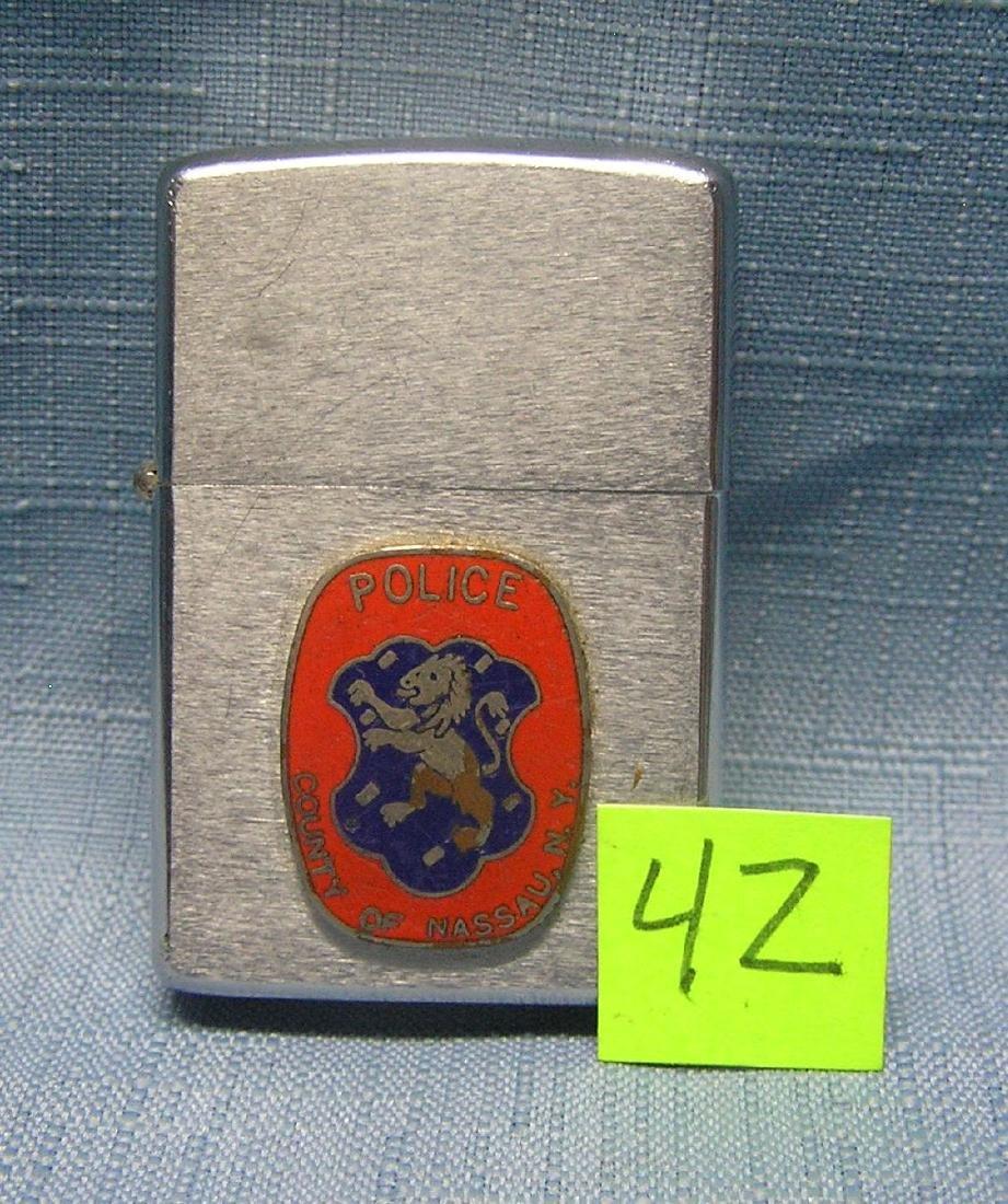 Nassau County policeman's Zippo lighter