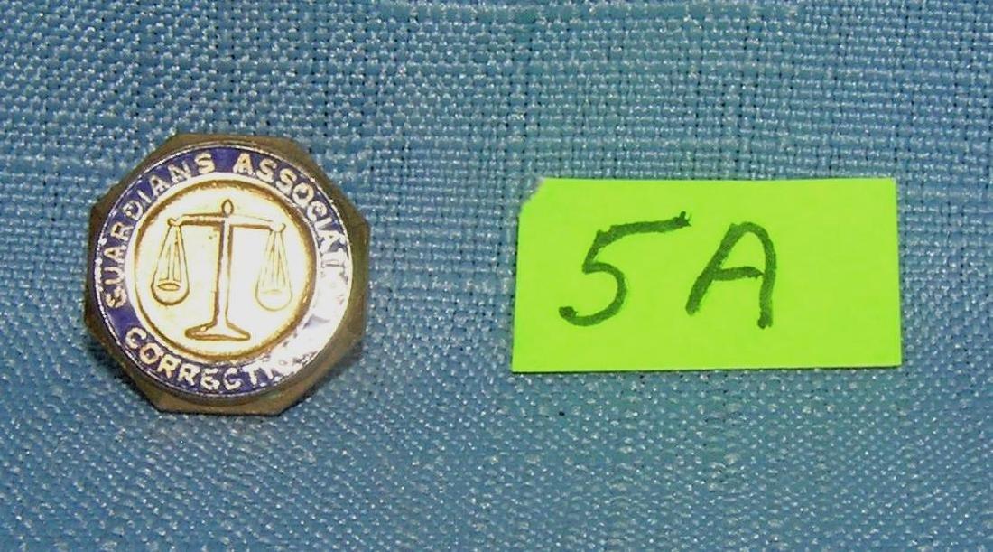 Correction officer's Guardian Association pin