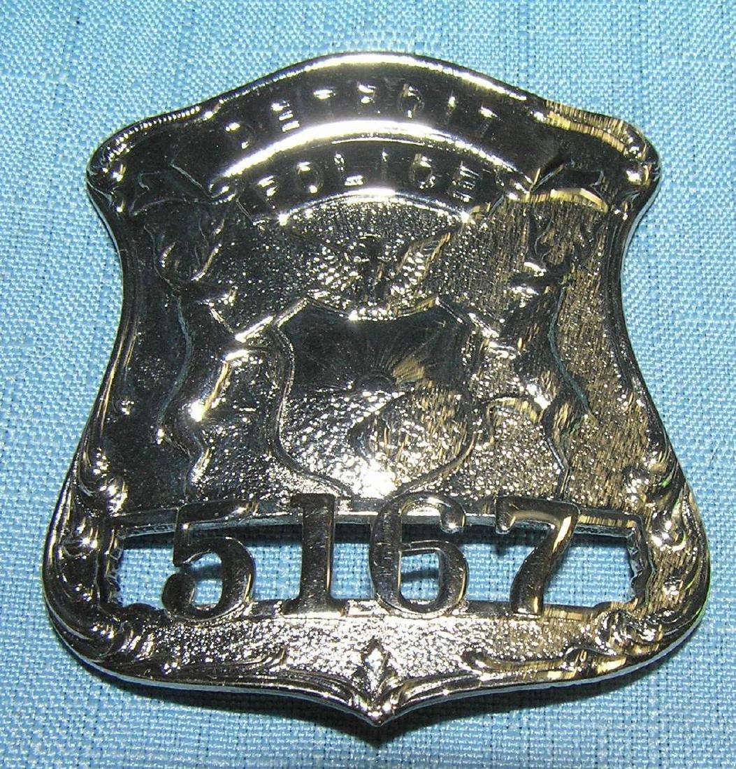 Detroit police officer's badge