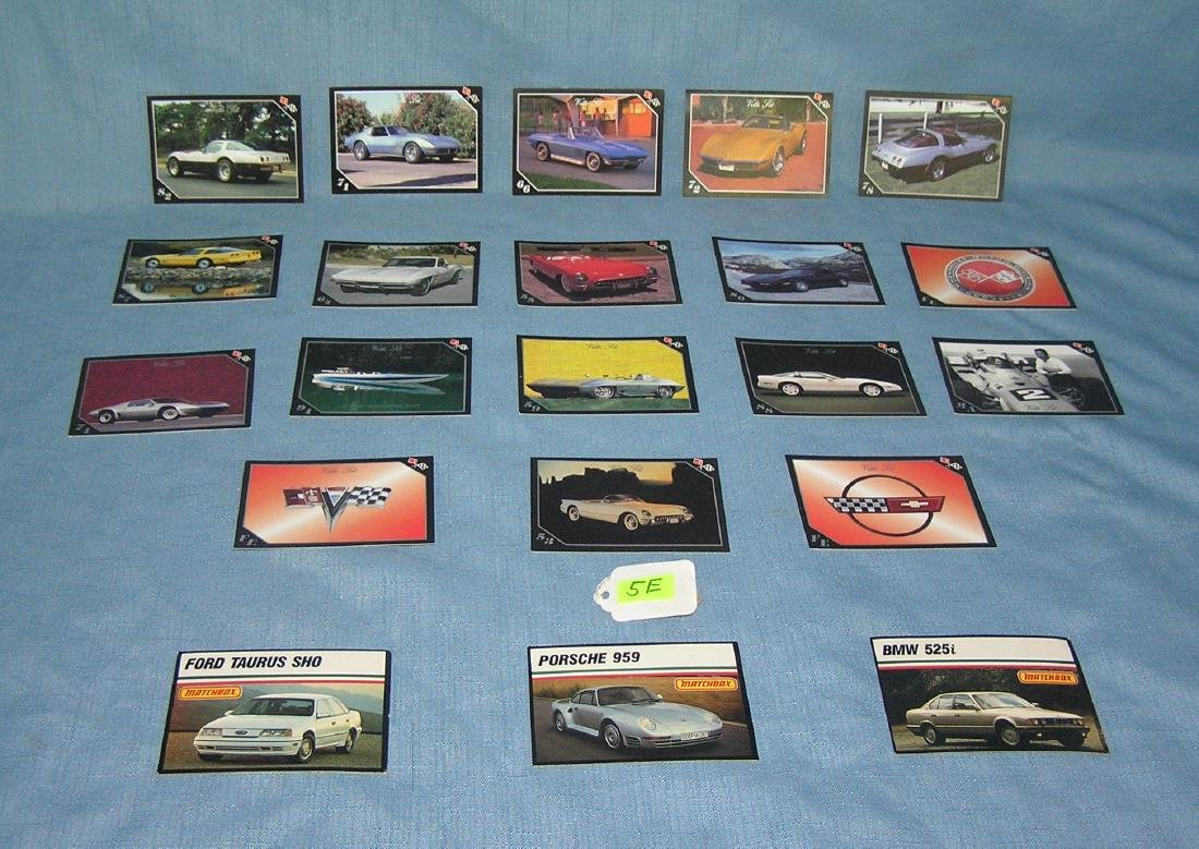 Collection of Chevy Corvette collector cards