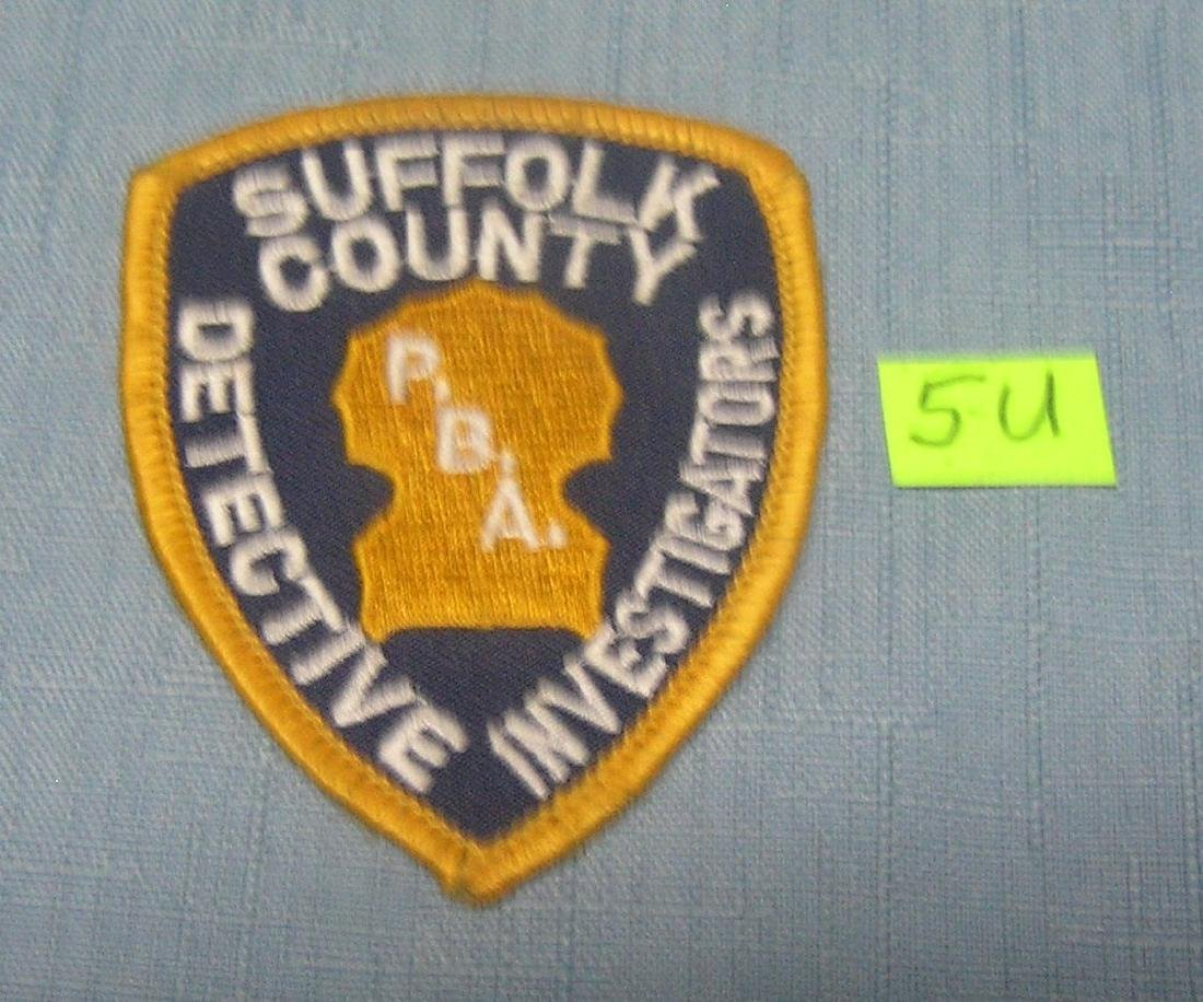 Suffolk County detective investigator's patch