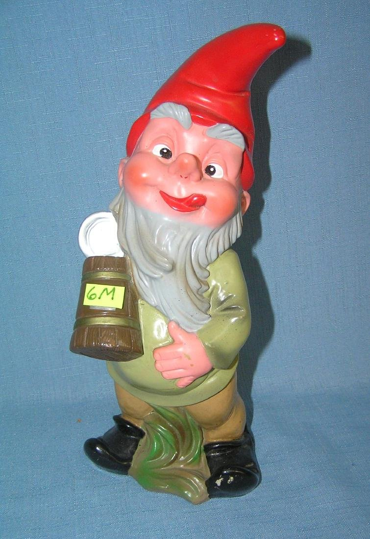 Vintage beer drinking gnome with stein