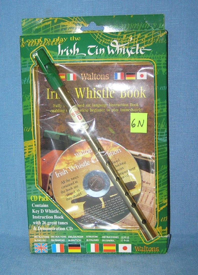 Irish tin whistle and CD set with original box