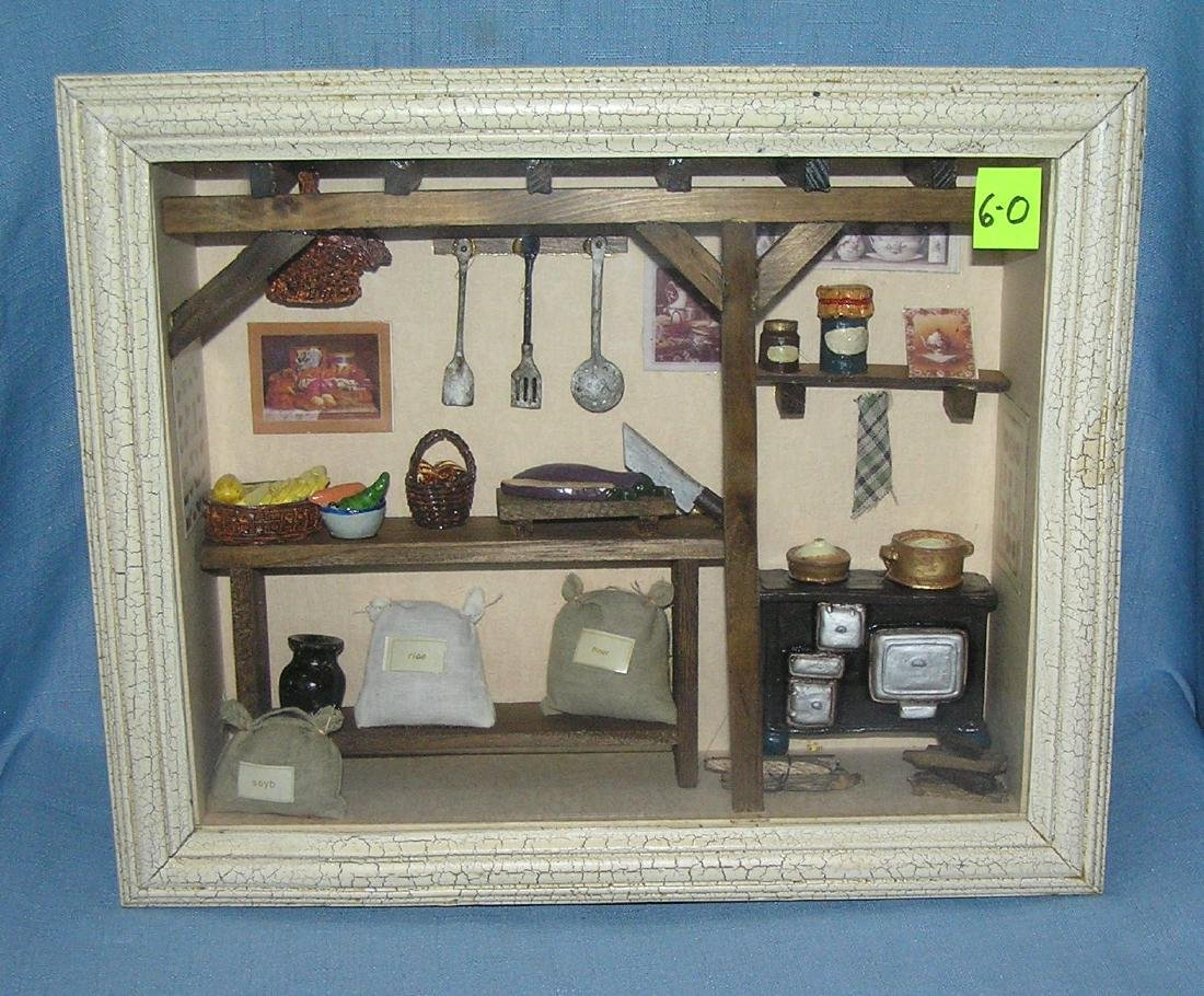 Old homestead style country store diorama