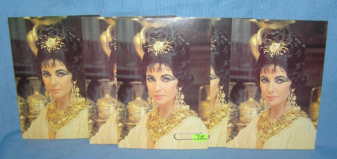 Elizabeth Taylor color photo cards