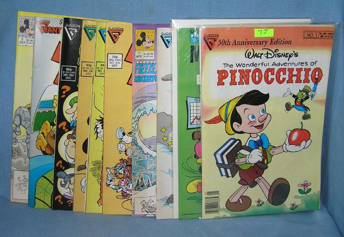 Group of vintage Walt Disney comic books
